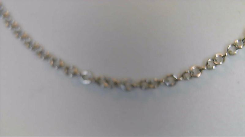 """16"""" Gold Fashion Chain 18K White Gold 2g"""