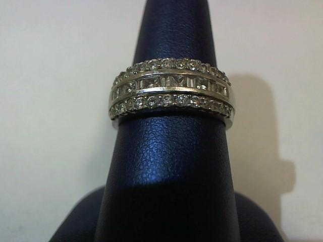 Lady's Gold-Diamond Anniversary Ring 37 Diamonds .43 Carat T.W. 14K White Gold