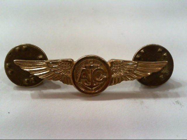 USN AIR CREW H-24-N 4 GMS PLATED PIN COPY OF 1935-1945 PINS