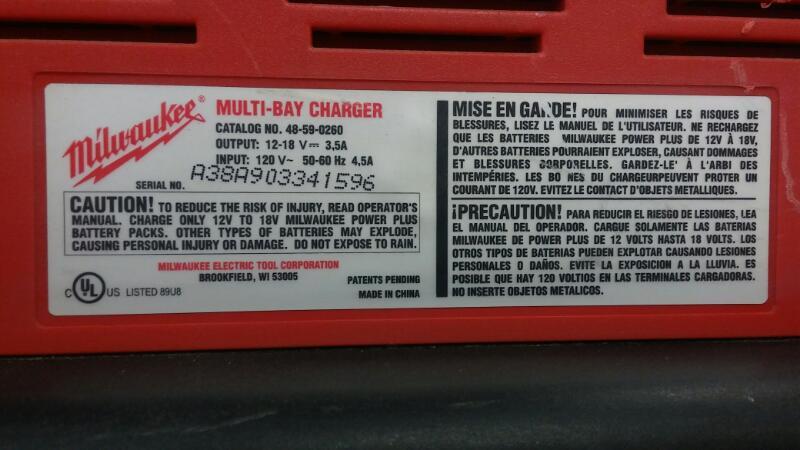 MILWAUKEE Porta-Power 48-59-0260 MULTI BAY CHARGER