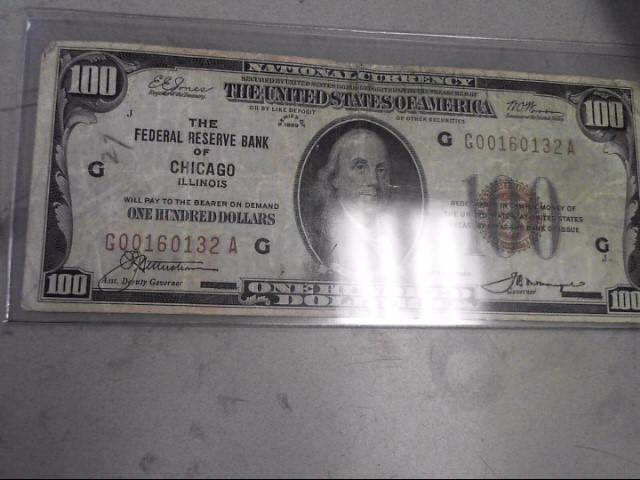 UNITED STATES Paper Money - World CURRENCY 100 RESERVE NOTE