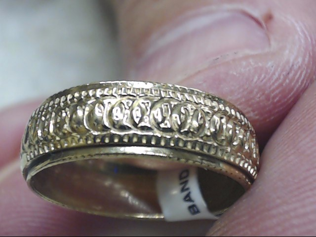 Gent's Gold Wedding Band 10K Yellow Gold 2g Size:7.8