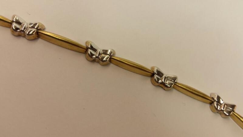 Gold Bracelet 10K 2 Tone Gold 2.06dwt