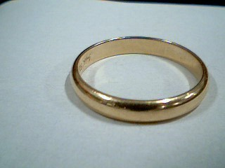 Gent's Gold Wedding Band 14K Yellow Gold 3.7g Size:10.5