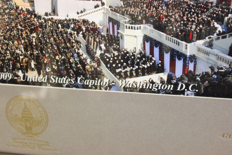 2009 Inauguration Panoramic Photo Barack Obama 35 x 21