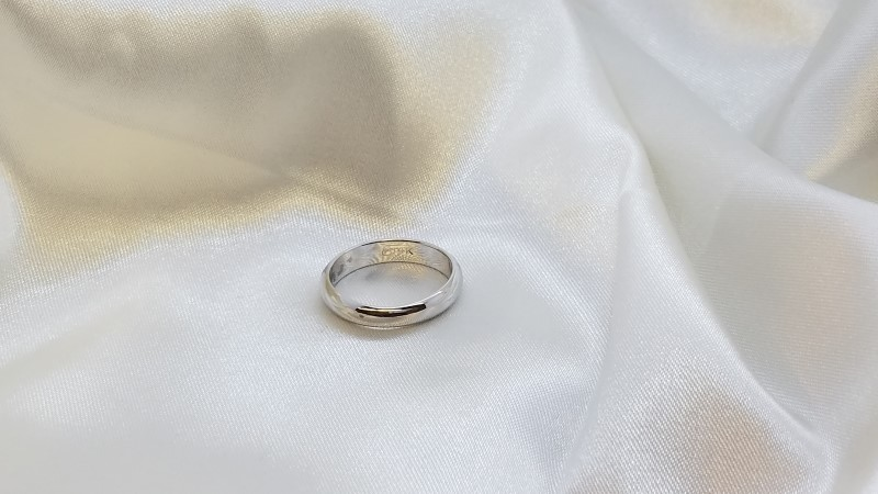 Gent's Gold Ring 14K White Gold 3.9g Size:8