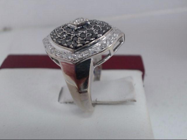 Lady's Diamond Cluster Ring 88 Diamonds .88 Carat T.W. 14K White Gold 6.1g