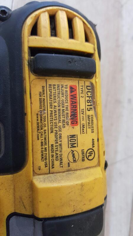 DEWALT Impact Wrench/Driver DCF815
