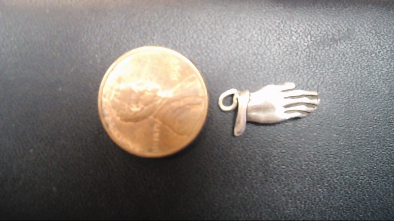 Silver Praying Hands Pendant 925 Silver 1.7g