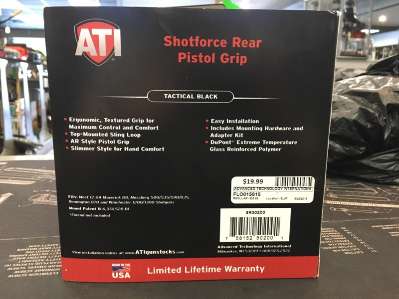 ADVANCED TECHNOLOGY INTERNATIONAL Accessories SHOTFORCE REAR PISTOL GRIP 7581525