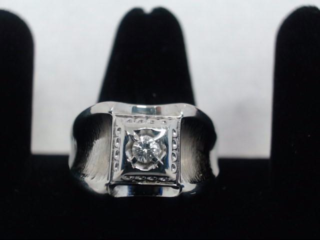 Gent's Diamond Fashion Ring .10 CT. 14K White Gold 6.2g