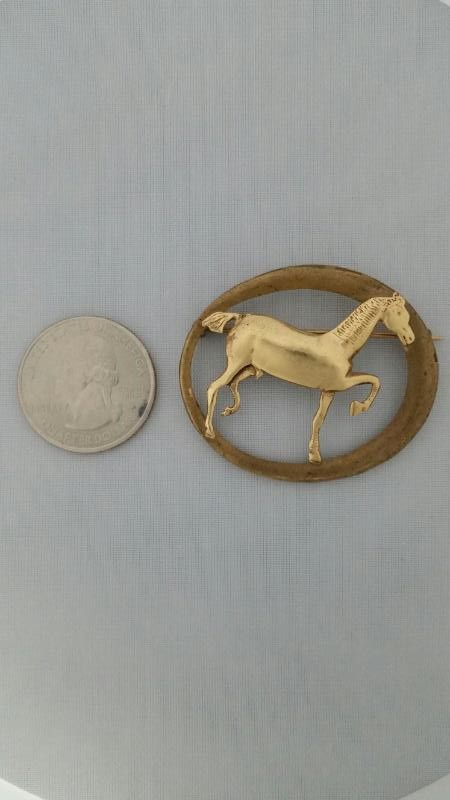 Antique Gold Brooch 14K Yellow Gold 8.18g