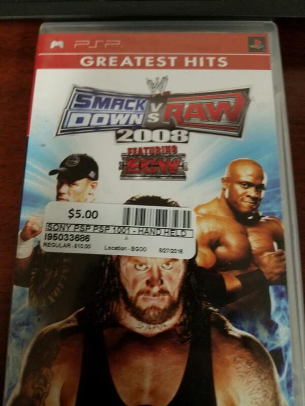 Shackdown vs Raw 2008- PSP GAMES