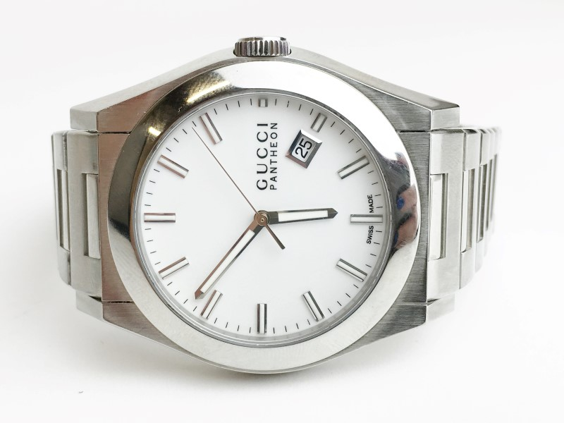 GUCCI PANTHEON STAINLESS STEEL DATE QUARTZ