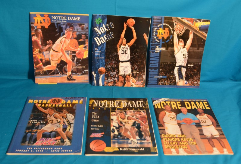 Lot of 12 Notre Dame Basketball Program Magazines