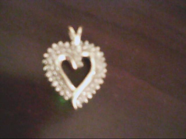 Gold-Multi-Diamond Heart Pendant 48 Diamonds .48 Carat T.W. 10K Yellow Gold 3.2g