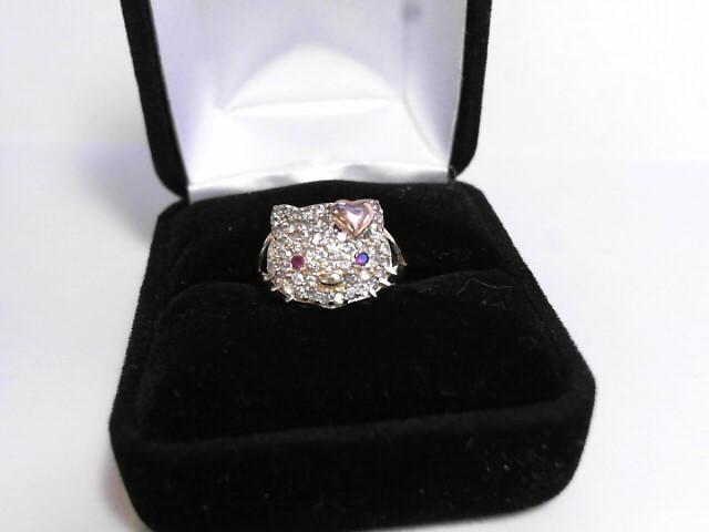 Lady's Diamond Cluster Ring 40 Diamonds .40 Carat T.W. 10K Yellow Gold 2dwt