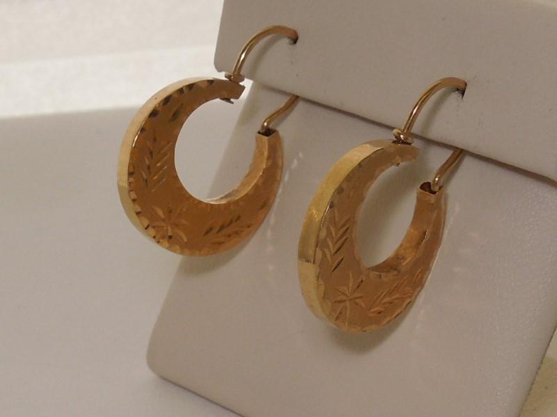 Gold Earrings 10K Yellow Gold 2.8g