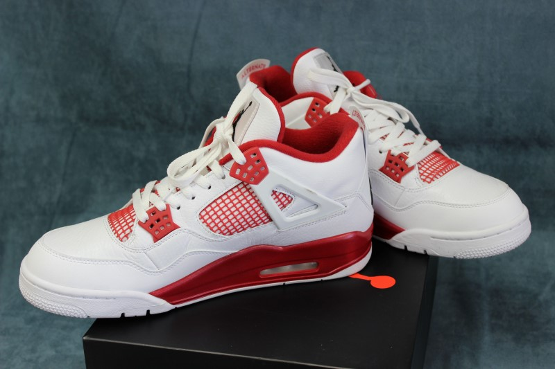 Nike Air Jordan 4 Retro White/Red - Men's Size 12