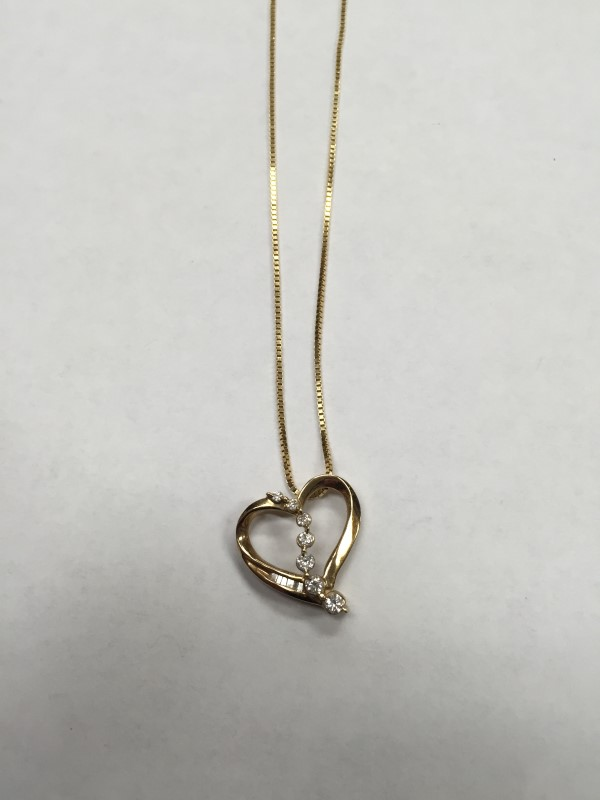 """20"""" GOLD FASHION CHAIN: 4.7G 14K-Y/G, GOLD CHAIN WITH HEART PENDANT"""