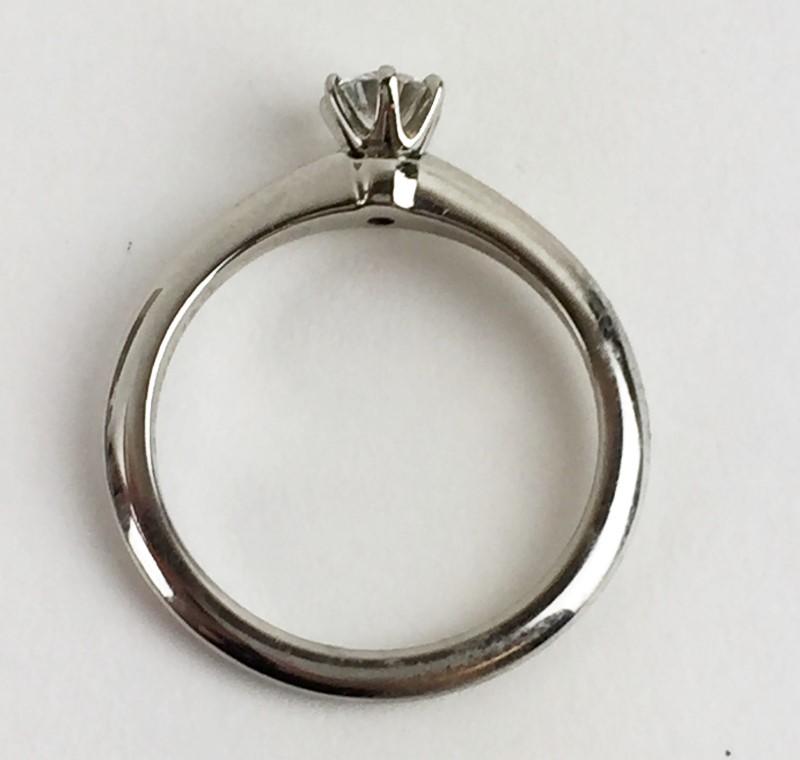 Tiffany & Co. Diamond Solitaire .29 CT. 950 Platinum 4.08g