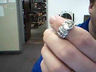 Lady's Diamond Engagement Ring 51 Diamonds 2.50 Carat T.W. 14K White Gold