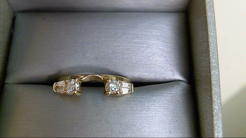 Lady's Gold-Diamond Ring Guard 6 Diamonds .50 Carat T.W. 14K Yellow Gold 2.8g