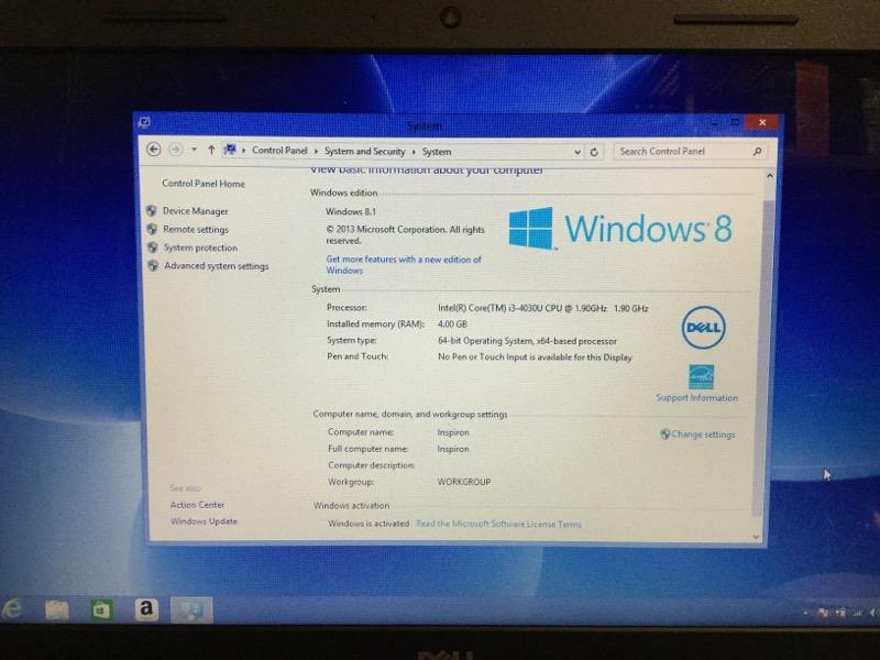 Dell Inspirion 15 1.90GHz Intel i3, 1TB HD, 4GB RAM