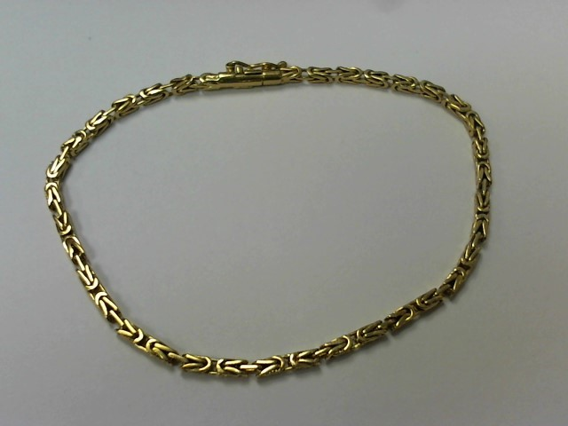 Gold Serpentine Bracelet 18K Yellow Gold 6.3g