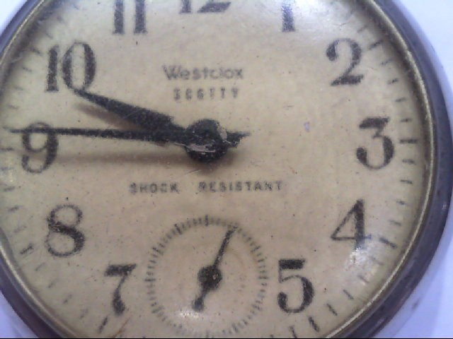 1950'S WESTCLOX SCOTTY SHOCK RESISTANT POCKET WATCH