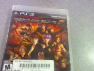 SONY Sony PlayStation 3 Game DEAD OR ALIVE 5