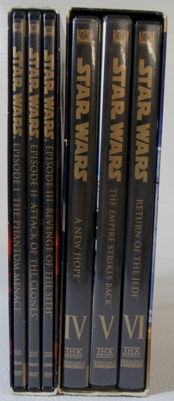 STAR WARS DVD'S PREQUEL TRILOGY  1-3 & TRILOGY 4-6