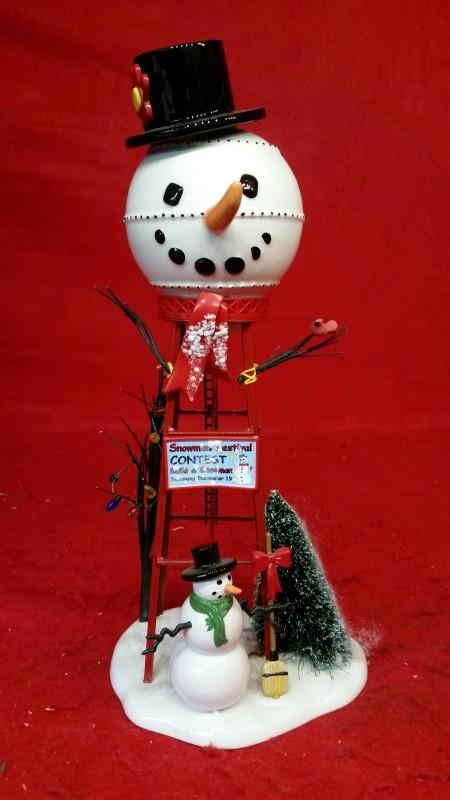 "Department 56 Snow Village ""Snowman Watertower"" Accessory #800013"