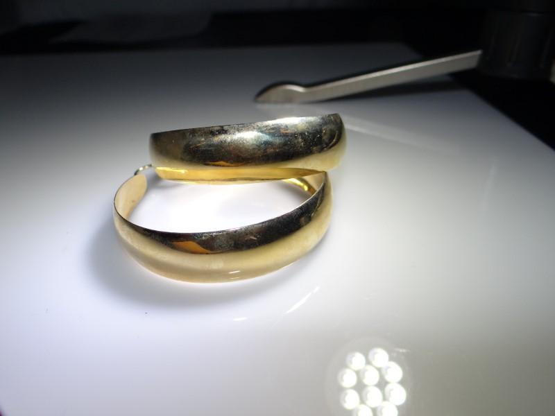 Gold Earrings 14K Yellow Gold 12.44g