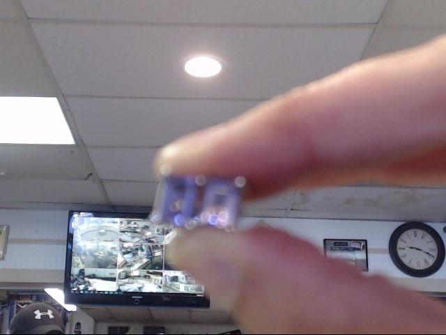 Purple Stone Silver-Stone Earrings 925 Silver 1.1dwt