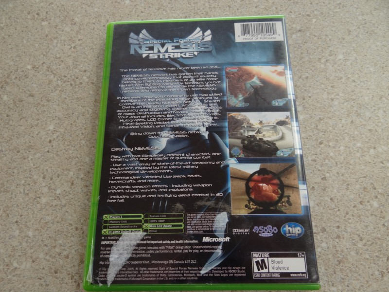 SPECIAL FORCES NEMESIS - XBOX GAME