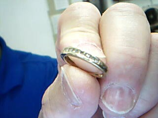 Lady's Gold-Diamond Anniversary Ring 9 Diamonds .27 Carat T.W. 10K Yellow Gold