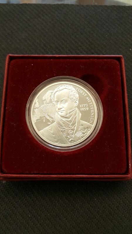 Austrian Republik Osterreich 1773-1859 20 Euro Silver Proof Coin, 2003