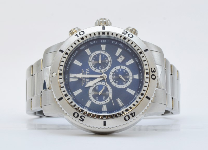 Invicta 10362 Specialty Classic Chronograph Stainless Steel Blue Watch