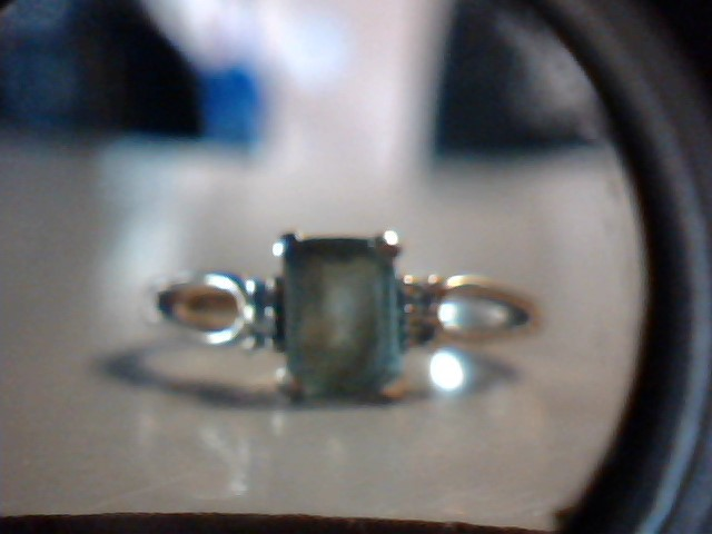Teal Stone Lady's Stone Ring 14K Yellow Gold 2.4g