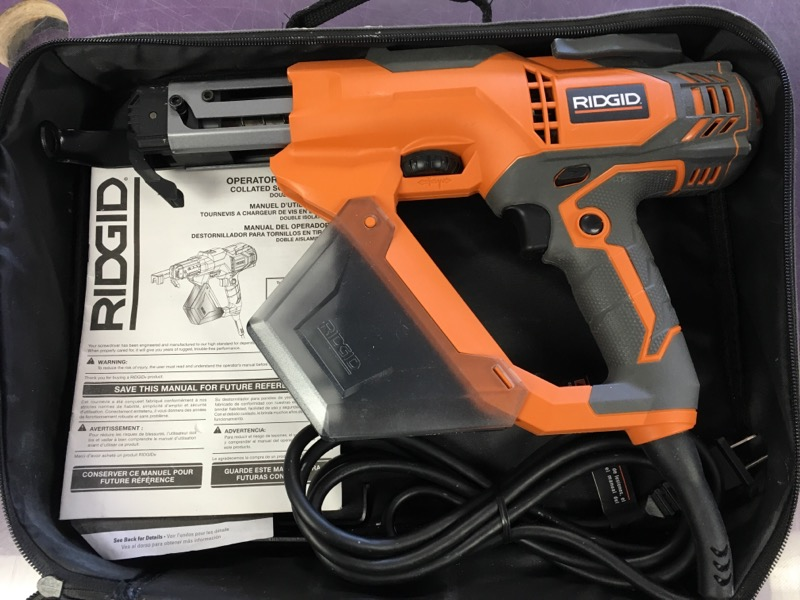 "Ridgid - 3"" Drywall and Deck Collated Screwdriver Gun - R6791"