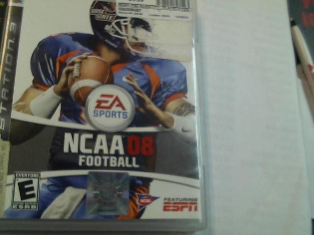 PLAYSTATION 3 GAME, NCAA 08 FOOTBALL