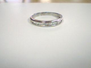 Lady's Diamond Cluster Ring 46 Diamonds .92 Carat T.W. 14K White Gold 2.5g