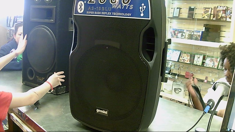 "GEMINI 15"" POWERED SPEAKER AS-15BLU"