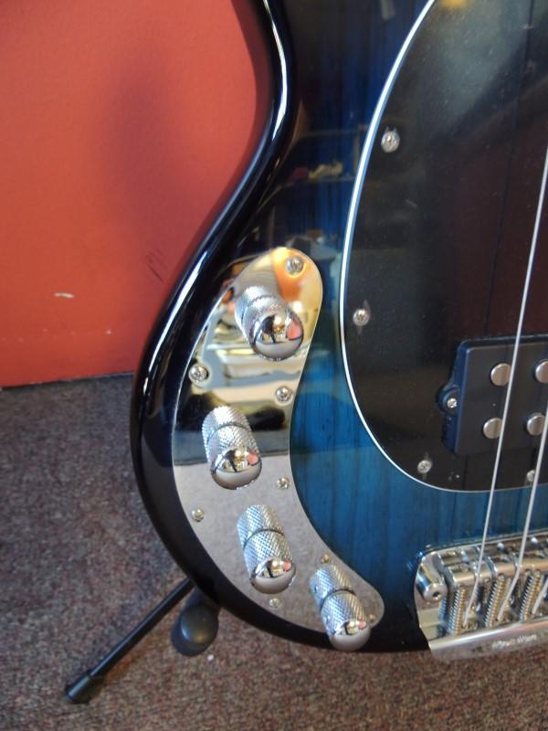 Ernie Ball Musicman HH Stingray Bass LH Lefty Guitar Pacific Blue Burst OHSC EXC