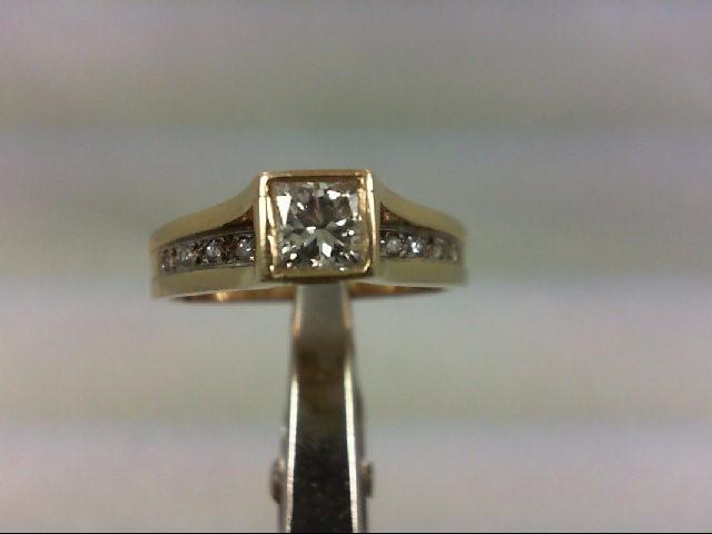 Lady's Diamond Engagement Ring 12 Diamonds .65 Carat T.W. 14K Yellow Gold 3.26g