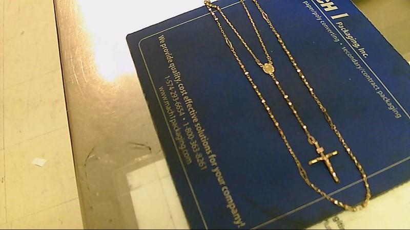 Gold Fashion Chain 10K Tri-color Gold 5.5g