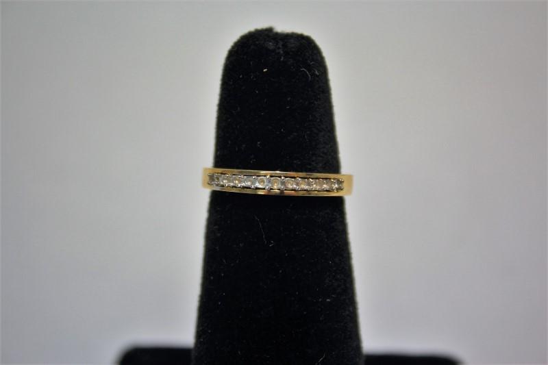 Lady's Gold Wedding Band 14K Yellow Gold 3.1g Size:6