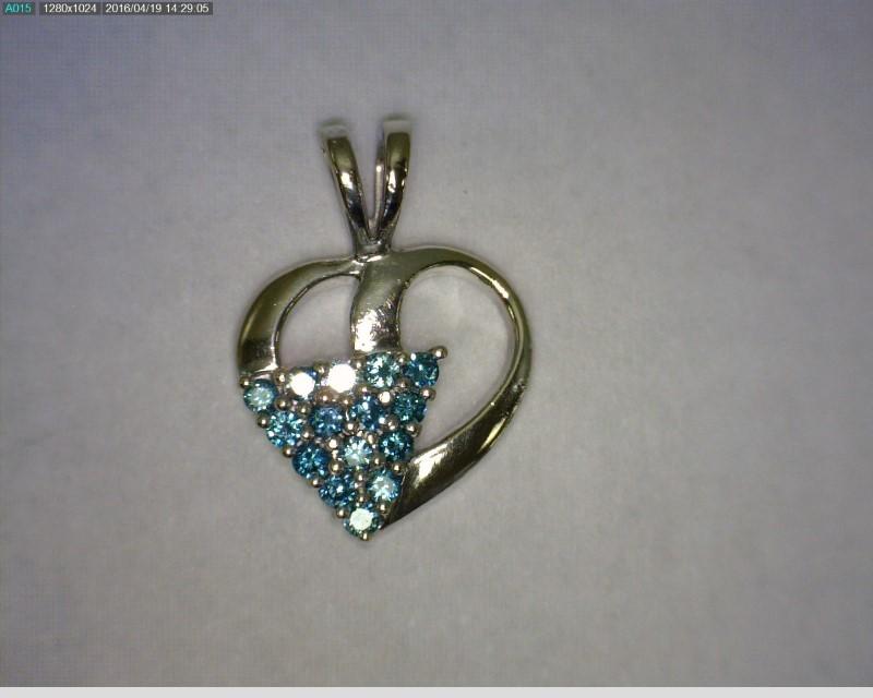 Gold-Multi-Diamond Pendant 15 Diamonds .30 Carat T.W. 14K White Gold 1.05dwt