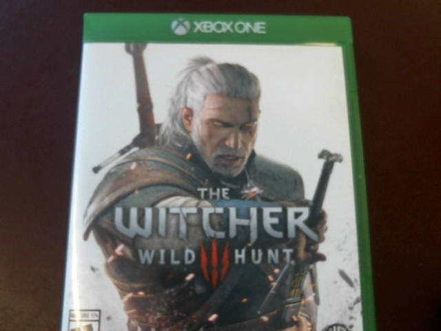XBOX ONE THE WITCHER III WILD HUNT WITH MANUAL, SOUNDTRACK, STICKERS, & POSTER
